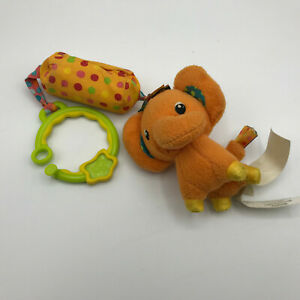 Bright Starts Elephant Clip On Take Along Replacement Toy Rattle Crinkle Jingles