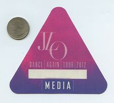 JENNIFER LOPEZ - Dance Again Concert Tour 2012 Unused MEDIA Pass - J LO JLO