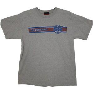 Nascar Brickyard Authentics Allstate 400 Mens Graphic Tee T-Shirt Grey Sz L