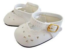 """Doll Clothes fits 18"""" American Girl White Dress Shoes HIGH QUALITY"""