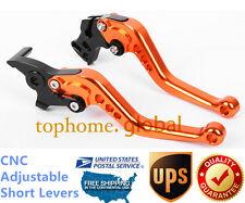 For Bajaj Pulsar 200 NS Short Clutch Brake Levers CNC Orange Adjustable US