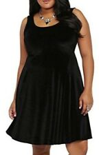 TORRID BLACK VELVET GOTHIC DRESS WOMEN'S PLUS SIZE 4X 26 FIT AND FLARE