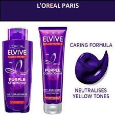 L'oreal Paris ELVIVE PURPLE SILVER Anti Yellow/Brassiness Shampoo & Conditioner