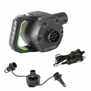Intex Elektrische Luftpumpe 66642 Electric Pumpe 12V + 230V Quick-Fill + Adapter