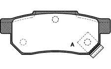 4x OPEN PARTS Pastillas de Freno Traseras Para ROVER 45 25 MG BPA0233.02