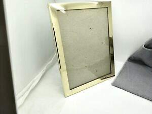 "VINTAGE TIFFANY GILT STERLING SILVER PICTURE FRAME,9"" X 7"",ORIG COOK RETAIL BAG"