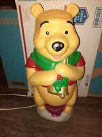 "Vintage Disney Santas Best 17"" Winnie the Pooh Blow Mold Lighted Christmas"