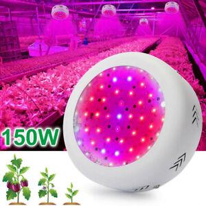 150W LED Grow Light Lamp UFO Pflanzenlampe Vollspektrum Gewächshaus Blume Gemüse