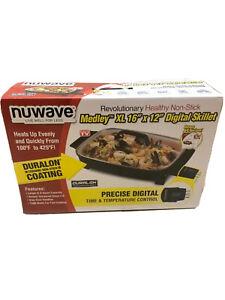 """Nuwave 31825 Medley Electric Skillet, 16"""" x 12"""", Black"""
