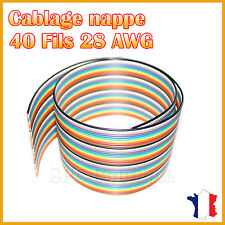 Nappe 28AWG 40 Fils Multi Couleur