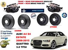 per AUDI S4 3.0 FAMILIARE 12-15 anteriore e posteriore performance DISCO FRENO