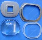 107MM Glass Lens + Reflector + Holder Bracket Case Kit Set For Street LED Light
