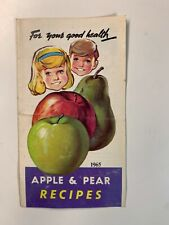 Vintage Catalogue - 1965 For your good Health - Apple & pear Recipes