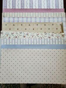 "Vintage Lot  ""Vinyl"" Dollhouse Wallpaper Country Prints 27 Sheets 9 designs"