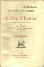OEUVRES COMPLETES - ANDRE CHENIER  - BUCOLIQUES - TOME 1 - 1943