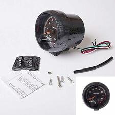 """Durable 3.75"""" 12V LED Backlit Tachometer Gauge Shockproof For Auto Car,0-8000RPM"""