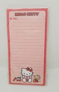 Hello Kitty Magnetic 60 Sheet List Pad / To Do List, SanRio 2007, Brand New