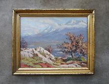 Ancien très beau tableau de montagne signé Florent Chadé Grenoble Chamonix.