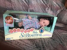 "Playmates Baby So Beautiful. Newborn Doll NEW 1995  12"" doll"