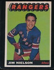 1965/66 TOPPS JIM NIELSON  VGEX/EX  NEW YORK RANGERS #89  BACK CREASE   41917HM