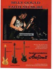 1991 Aria Pro II Integra Bass Guitar Billy Gould of Faith No More Magazine Ad