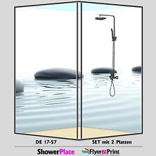 Duschrückwand Duschrückwände Rückwand Alu Fliesenspiegel Wandverkleidung DE17-57