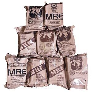 ORIGINAL US MRE 24 MENÜS MEAL READY TO EAT ARMY FOOD BW EPA NOTRATION EPA ARMEE