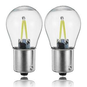 1156 P21W BA15S 1157 BAY15D COB LED Filament Chip (PAIR)