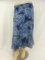 NWT Women's X - 3X CJ Banks Plus Size Floral Print Skirts Assorted Blue Green