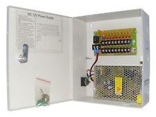 POWER SUPPLY Box FOR CCTV CAMERAS 12V 10AMP 9 Port 10 amp 9p