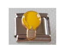 9mm Classic Size Italian Charms Charm E17 Electrician  Bright Idea Light Bulb