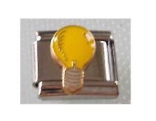 9mm Classic Size Italian Charms Charm E17 Electrician  Bright Idea Light Bulb