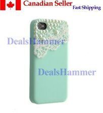 Pearl Lace ice Cream Hard Back Case For iPhone 4 4S GREEN SHIP FROM CANADA
