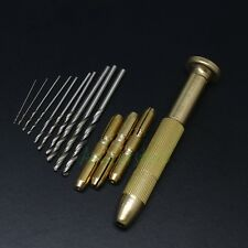 5-Set Copper Rotary Handle Micro Precision Drill Bit Set Tool For Jewelry PCB