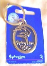 #T21. #4. Sydney 2000 Olympic Keyring - Pictogram, Gold Coloured Finish
