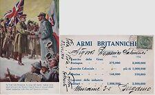 # MILITARI: LA LEGA ITALO BRITANNICA 1916 EDIZ. PARTICOLARE CON AL VERSO ELENCO