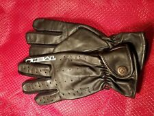 NOS O'NEAL SUMMER ADULT GLOVES BLACK PERFORATED LEATHER 0465-008 S SZ8