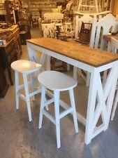 Slim Pine Kitchen Island Breakfast Bar + 2 Stools,Furniture Showroom In Kent