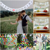 JUST MARRIED HAPPY WEDDING Banner Bunting Garland Photo Booth Props Party Decor