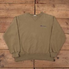 "Mens Vintage Champion Olive Green Crew Neck Logo Sweatshirt Medium 40"" R17414"