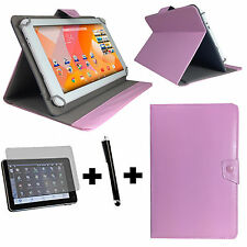 3er Set - Odys Ieos Next 10 Tablet Tasche + Folie + Pen - 3in1 10 Zoll rosa