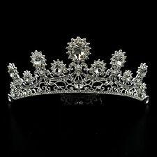 Wedding Clear Austrian Crystal Rhinestone Tiara Crown Bridal Party Pageant 5587