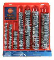 HOSE CLAMP ASSORTMENT KIT STAINLESS STEEL SPRING CLIP WATER FUEL TUBE PIPE 150pc