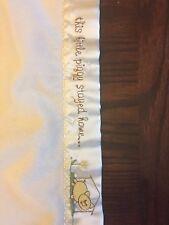 Baby Aspen Blanket THIS LITTLE PIGGY WENT TO MARKET Satin Edge Lovey Crib