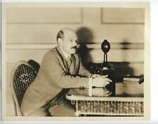 1932 Press Photo Gutzon Borglum 8 X 10 sculptor broadcasting WJZ Mount Rushmore