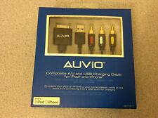 AUVIO Composite A/V and USB Charging Cable for iPod and iPhone for Home Theater