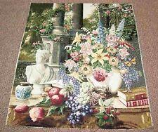 El Jardín Habitación Floral Grande Tapiz Crafters Tejido Pieza