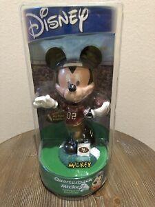 RARE San Francisco 49ers Disney Quarterback Mickey Mouse Hand-Painted Bobblehead