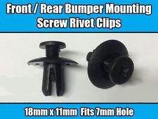 20x Clips For Kia Hyundai Front Rear Bumper Screw Rivet Black Plastic 8615522000