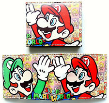 Super Mario Bros Super Mario Wallet id window 2 card slot zipped coin pocket
